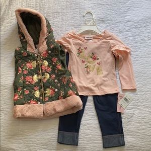 NWT 2T Outfit with Puffer Vest
